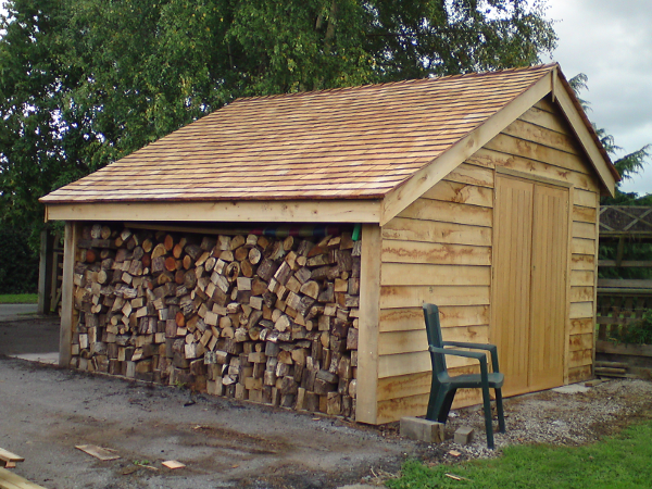 Oak constructions oak designs for Cedar clad garage doors